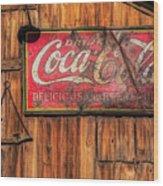 Coca Cola Barn Wood Print