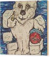 Coca Cola Bear Wood Print