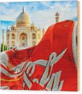 Coca-cola Can Trash Oh Yeah - And The Taj Mahal Wood Print