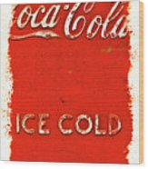 Coca-cola Cooler Wood Print