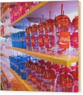 Coca Cola Wood Print