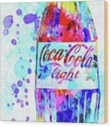 Coca Cola Light Wood Print