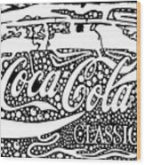 Coca-cola Maze Advertisement  Wood Print