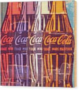 Coca Cola Newspaper Art Pop Art Pur Serie Wood Print