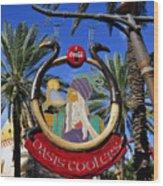 Coca Cola Oasis Coolers Wood Print