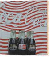 Coca Cola Olympic Commemorative Bottles Wood Print