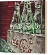 Coca Cola Vintage 1950s Wood Print