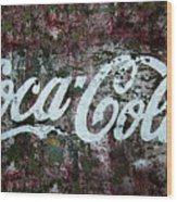 Coca Cola Wall Wood Print
