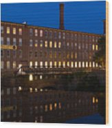 Cocheco Mills At Twilight Dover New Hampshire Wood Print