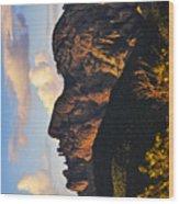 Cochise Head Wood Print