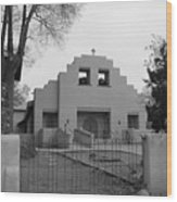 Cochiti Church Wood Print