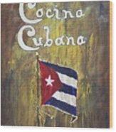 Cocina Cubana Wood Print