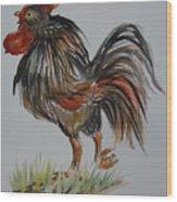 Cock-a-doodle-do Wood Print