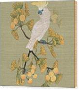Cockatoo And Ginkgo Tree Wood Print