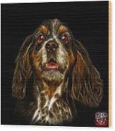 Cocker Spaniel Pop Art - 8249 - Bb Wood Print