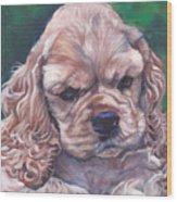 Cocker Spaniel Puppy Wood Print by Lee Ann Shepard