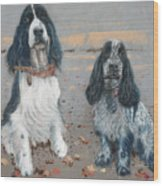 Cocker Spaniels Wood Print