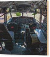Cockpit Wood Print