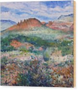 Cockscomb Butte Sedona Arizona Usa 2003  Wood Print