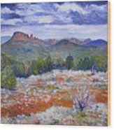 Cockscomb Butte West Sedona Arizona Usa 2002  Wood Print
