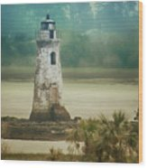 Cockspur Island Light Wood Print