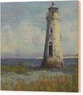 Cockspur Island Lighthouse Wood Print