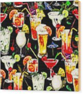 Cocktail Hour In The Tropics Wood Print