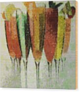 Cocktail Impression Wood Print