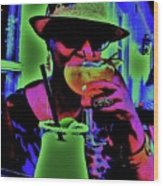 Cocktails Anyone Wood Print