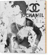 Coco Chanel Grunge Wood Print