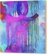 Coco Chanel Liquidated Logo Colorful Wood Print