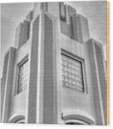 Cocoa Art Deco-2 Bw Wood Print