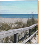 Cocoa Beach In Florida Wood Print