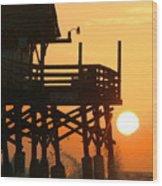 Cocoa Beach Pier/sunrise Wood Print