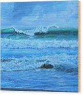 Cocoa Beach Surf Wood Print