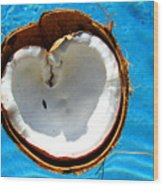 Coconut Heart Wood Print
