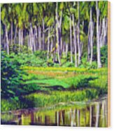 Coconuts Trees Wood Print