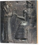 Code Of Hammurabi (detail) Wood Print by Granger