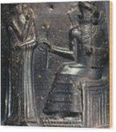 Code Of Hammurabi (detail) Wood Print