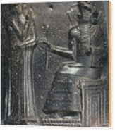 Code Of Hammurabi. Wood Print