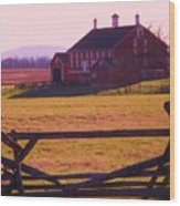 Codori Barn Gettysburg Wood Print