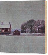 Codori Farm At Gettysburg In The Snow Wood Print