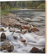 Coeur D'alene River Wood Print