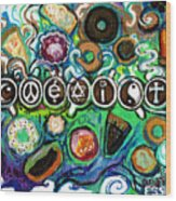 Coexisting With Coffee And Donuts Wood Print