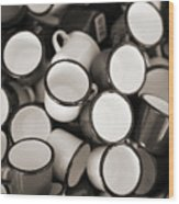 Coffe Cups 2 Wood Print