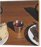Coffee And Chocolate Cake. Mountain House Inn Wood Print