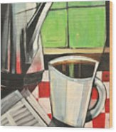 Coffee And Morning News Wood Print