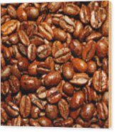 Coffee Beans Wood Print