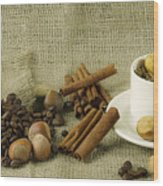 coffee beans Still Life Wood Print
