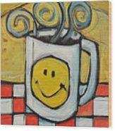 Coffee Cup One Wood Print